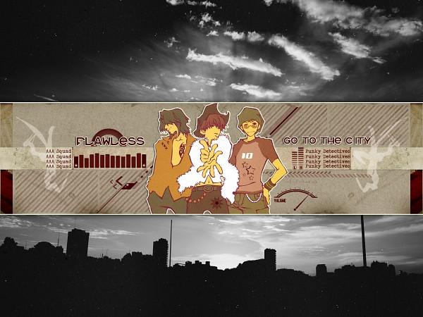 Tags: Anime, Bus Gamer, Mishiba Toki, Nakajou Nobuto, Saitou Kazuo, Wallpaper