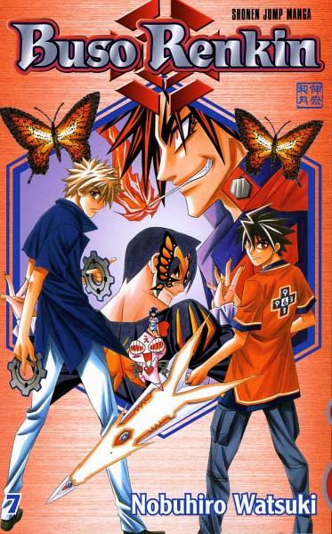 Tags: Anime, Watsuki Nobuhiro, Busou Renkin, Nakamura Gouta, Chouno Koushaku, Muto Kazuki, Hiwatari Sekima, Scan, Official Art, Manga Cover