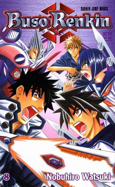 Tags: Anime, Watsuki Nobuhiro, Busou Renkin, Muto Kazuki, Negoro Shinobu, Nakamura Gouta, Sakimori Mamoru, Tsumura Tokiko, Official Art, Manga Cover, Scan