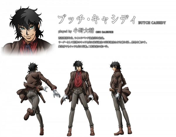 Tags: Anime, Hoods Drifters Studio, Drifters (Manga), Butch Cassidy, Official Character Information, Official Art, Cover Image