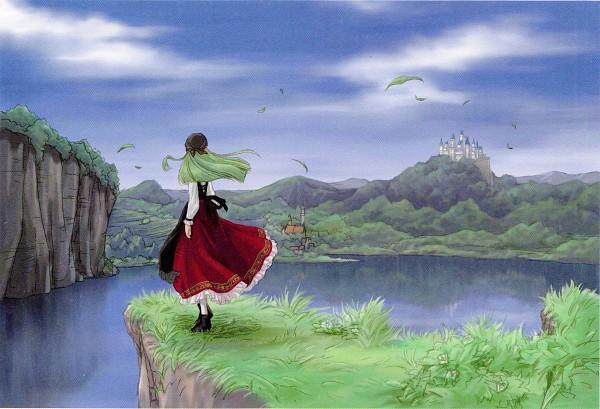 Tags: Anime, Kimura Takahiro, Ricca, CODE GEASS: Hangyaku no Lelouch, C.C., Cliff, Official Art, Scan