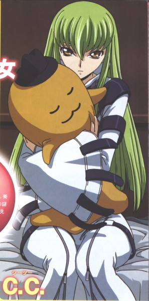 Tags: Anime, CODE GEASS: Hangyaku no Lelouch, Cheese-kun, C.C., Straitjacket, Scan, Official Art