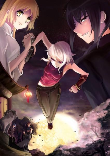 Tags: Anime, Kio Sayuki, CANAAN, Canaan (Character), Oosawa Maria, Alphard Al Shua, Fanart From Pixiv, Pixiv, Fanart