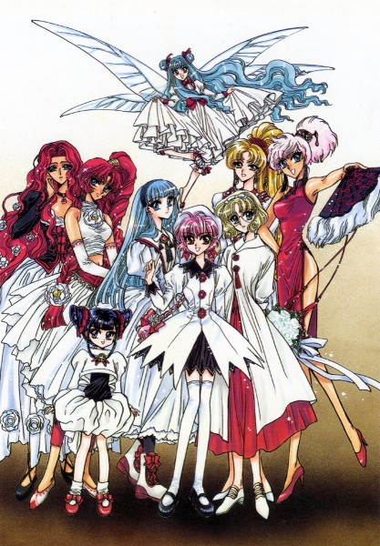 Tags: Anime, CLAMP, CLAMP in Wonderland, Magic Knight Rayearth, Tarta, Lady Aska Of Fahren, Primera (Magic Knight Rayearth), Caldina, Hououji Fuu, Presea (Magic Knight Rayearth), Ryuuzaki Umi, Tatra, Shidou Hikaru