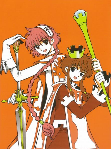 Tags: Anime, CLAMP, CLAMP no Kiseki, Angelic Layer, CLAMP in Wonderland, Magic Knight Rayearth, Misaki Suzuhara, Shidou Hikaru, Creator Connection, Official Art, Scan