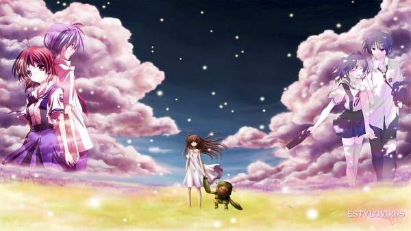 Tags: Anime, KEY (Studio), CLANNAD, Furukawa Nagisa, Fujibayashi Kyou, Girl from the Illusionary World, Okazaki Tomoya, HD Wallpaper, Wallpaper, Facebook Cover