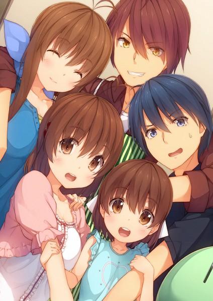 Tags: Anime, Shiva (Executor), Clannad: After Story, CLANNAD, Furukawa Sanae, Okazaki Tomoya, Furukawa Nagisa, Okazaki Ushio, Furukawa Akio, Dango (CLANNAD), Fanart From Pixiv, Pixiv, Mobile Wallpaper