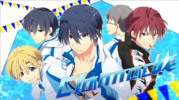 Tags: Anime, Takumi (Scya), Free!, CLANNAD, Furukawa Akio, Yoshino Yuusuke, Okazaki Tomoya, Sunohara Youhei, Okazaki Naoyuki, Company Connection, Free! (Parody), Facebook Cover