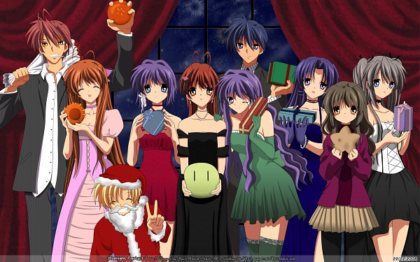 Tags: Anime, KEY (Studio), CLANNAD, Okazaki Tomoya, Fujibayashi Kyou, Furukawa Sanae, Sakagami Tomoyo, Fujibayashi Ryou, Furukawa Nagisa, Ibuki Fuko, Ichinose Kotomi, Sunohara Youhei, Furukawa Akio