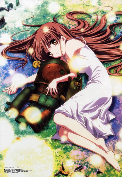 Tags: Anime, Ikeda Kazumi, KEY (Studio), Kyoto Animation, Megami #97 2008-06, CLANNAD, Girl from the Illusionary World, Garbage Doll, Robot Toy, Magazine (Source), Scan, Mobile Wallpaper, Official Art