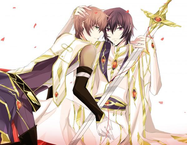 Tags: Anime, CODE GEASS: Hangyaku no Lelouch, Lelouch Lamperouge, Kururugi Suzaku, Artist Request, Suzalulu, Code Geass: Lelouch Of The Rebellion