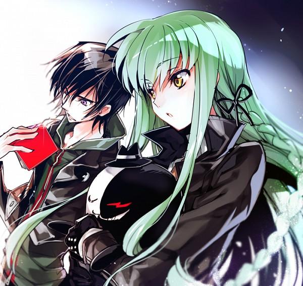 Tags: Anime, Rangetsu, CODE GEASS: Hangyaku no Lelouch, Lelouch Lamperouge, C.C., Cheese-kun, Naegi Makoto (Cosplay), Kirigiri Kyouko (Cosplay), Monokuma (Cosplay), Danganronpa (Parody), PNG Conversion, Fanart, Fanart From Pixiv, Code Geass: Lelouch Of The Rebellion