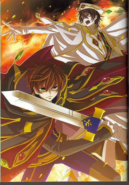 Tags: Anime, CODE GEASS: Hangyaku no Lelouch, Lelouch Lamperouge, Kururugi Suzaku, Artist Request, Mobile Wallpaper, Code Geass: Lelouch Of The Rebellion