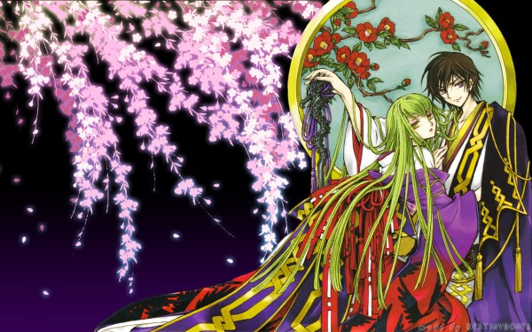 Tags: Anime, CLAMP, CODE GEASS: Hangyaku no Lelouch, Lelouch Lamperouge, C.C., Official Art, Wallpaper, Code Geass: Lelouch Of The Rebellion