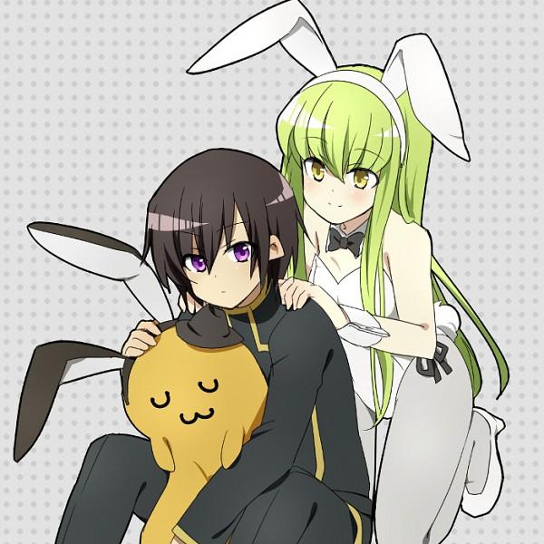 Tags: Anime, Shacttainw, CODE GEASS: Hangyaku no Lelouch, Cheese-kun, C.C., Fanart, Code Geass: Lelouch Of The Rebellion