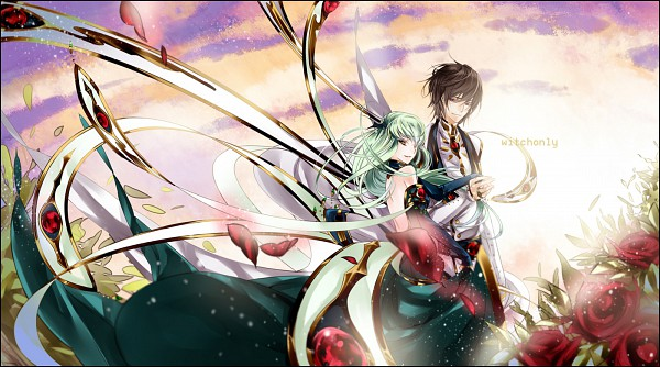 Tags: Anime, witchonly, CODE GEASS: Hangyaku no Lelouch, Lelouch Lamperouge, C.C., Fanart, Pixiv, Facebook Cover, Code Geass: Lelouch Of The Rebellion