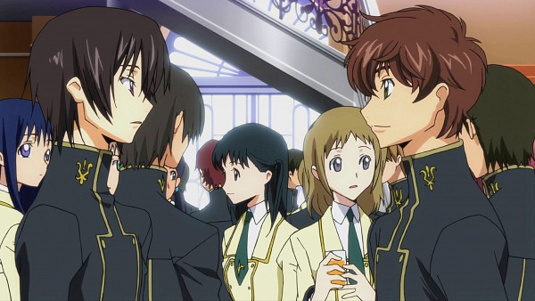 Tags: Anime, Sunrise (Studio), CODE GEASS: Hangyaku no Lelouch, Kururugi Suzaku, Lelouch Lamperouge, HD Wallpaper, Wallpaper, Screenshot, Code Geass: Lelouch Of The Rebellion