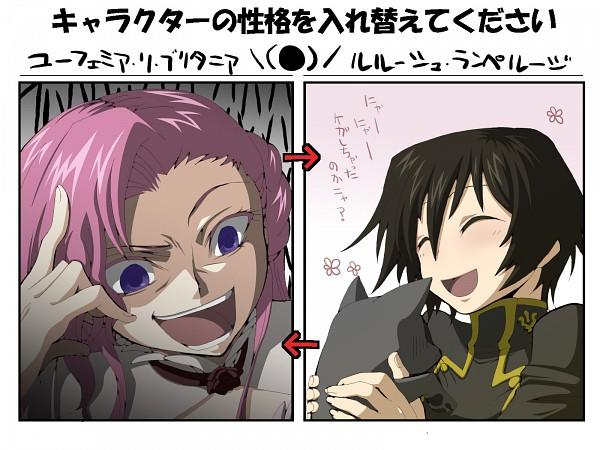 Tags: Anime, CODE GEASS: Hangyaku no Lelouch, Euphemia li Britannia, Lelouch Lamperouge, Personality Switch, Out of Character, Wallpaper, Code Geass: Lelouch Of The Rebellion