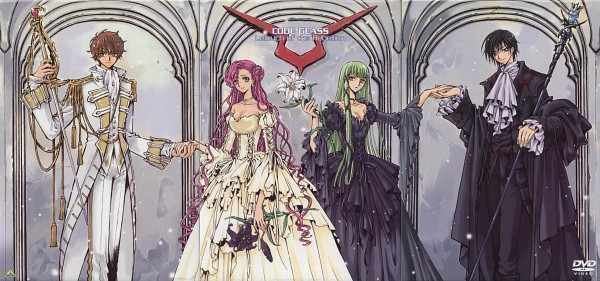 Tags: Anime, CLAMP, CODE GEASS: Hangyaku no Lelouch, CLAMP X Code Geass - Mutuality, Lelouch Lamperouge, Kururugi Suzaku, C.C., Euphemia li Britannia, Scan, Facebook Cover, DVD (Source), Official Art, Code Geass: Lelouch Of The Rebellion