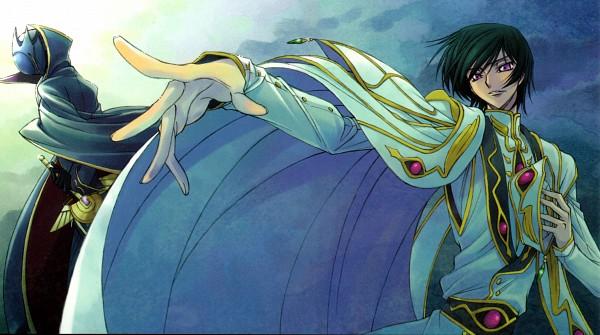 Tags: Anime, Ricca, CODE GEASS: Hangyaku no Lelouch, CODE GEASS: Hangyaku no Lelouch R2, Zero (CODE GEASS), Lelouch Lamperouge, Wallpaper, Official Art, Scan, Facebook Cover, Code Geass: Lelouch Of The Rebellion