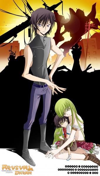Tags: Anime, Crossingxboundaries, CODE GEASS: Hangyaku no Lelouch, Lelouch Lamperouge, C.C., Self Made, deviantART, Code Geass: Lelouch Of The Rebellion