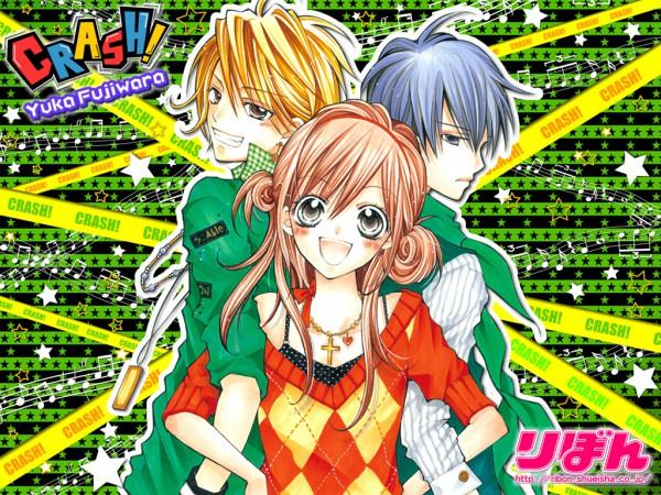 Tags: Anime, Fujiwara Yuka, CRASH!, Shinozuka Rei, Kurose Kiri, Shiraboshi Hana, Official Wallpaper, Wallpaper, Official Art