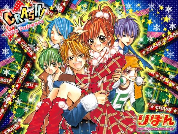 Tags: Anime, CRASH!, Midorikawa Kazuhiko, Akamatsu Junpei, Shinozuka Rei, Kurose Kiri, Aoyagi Yugo, Shiraboshi Hana, Wallpaper