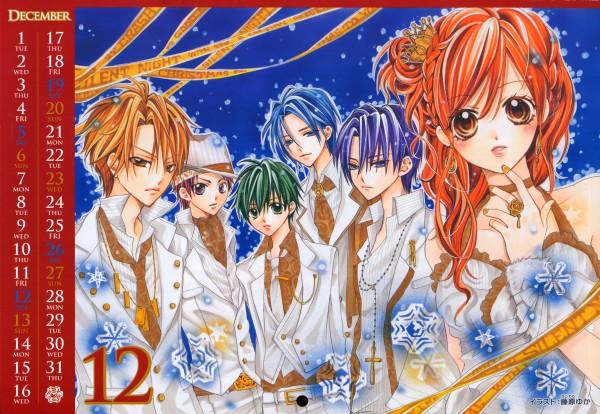 Tags: Anime, CRASH!, Ribon Collection 2009 Calendar, Midorikawa Kazuhiko, Akamatsu Junpei, Shinozuka Rei, Kurose Kiri, Aoyagi Yugo, Shiraboshi Hana, Calendar (Source)