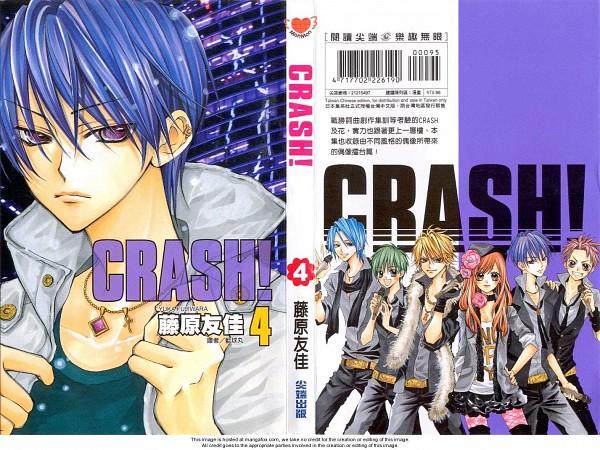 Tags: Anime, Fujiwara Yuka, CRASH!, Kurose Kiri, Aoyagi Yugo, Shiraboshi Hana, Midorikawa Kazuhiko, Akamatsu Junpei, Shinozuka Rei, Official Art, Manga Cover, Scan