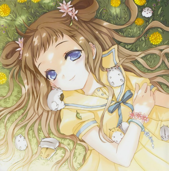 Tags: Anime, CUTEG, School Life Illustrations Book, Garden, Hamster, Original, Pixiv