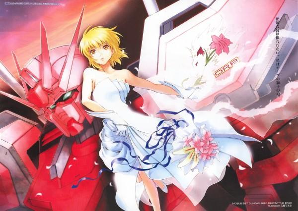 Tags: Anime, Kuori Chimaki, Mobile Suit Gundam SEED, Mobile Suit Gundam SEED Destiny, Cagalli Yula Athha, Strike Rouge Gundam, Official Art