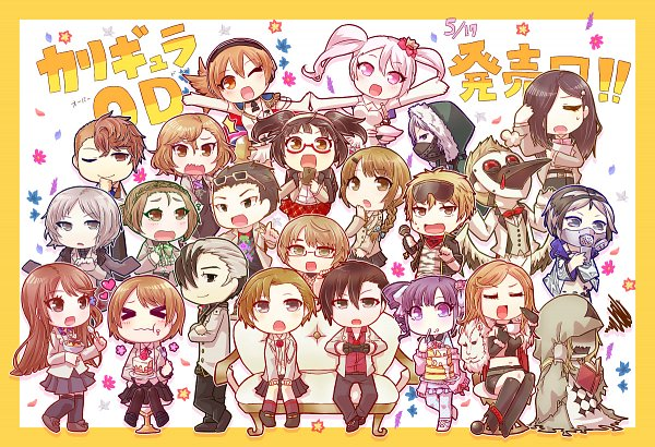 Tags: Anime, Pixiv Id 2358265, Caligula, Caligula: Overdose, Tomoe Kotarou, Shounen Doll (Caligula), Kuchinashi (Caligula), Kagura Suzuna, Aria (Caligula), Satake Shougo, Thorn (Caligula), Biwasaka Eiji, Shinohara Mihue