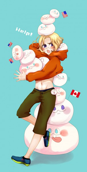Tags: Anime, Pixiv Id 2720904, Axis Powers: Hetalia, Mochimerica, Mochicanada, Canada, Capri Pants, Fanart, Pixiv