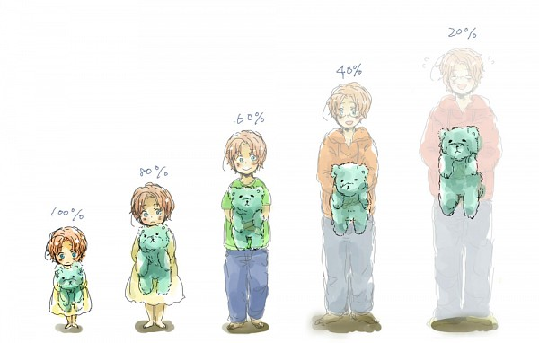 Tags: Anime, Pixiv Id 33342, Axis Powers: Hetalia, Kumajirou, Canada, :>, Disappearing, Age Progression, Transparent Body