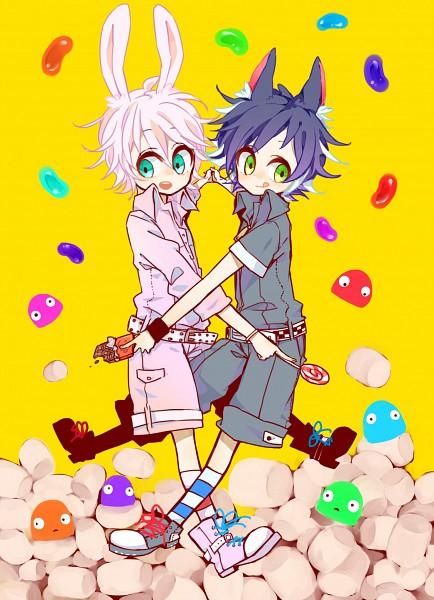 Tags: Anime, Shimogu, Candy Hole, Bunny (Candy Hole), Cat (Candy Hole), Mobile Wallpaper