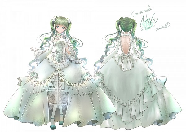 Tags: Anime, Itto Maru, Project DIVA F 2nd, VOCALOID, Hatsune Miku, Gown, Cantarella (Song), Project DIVA Rosa Bianca, Character Sheet