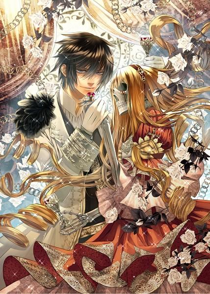 Tags: Anime, Shijuu Hachi, VOCALOID, KAITO, Manga Cover, Mobile Wallpaper, Scan, Official Art, Cantarella (Song)