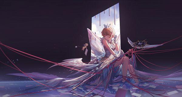 Tags: Anime, Miv4t, Cardcaptor Sakura, Cardcaptor Sakura: Clear Card-hen, Kinomoto Sakura, Kero-chan, Sealing Wand (Guardian Form), Fanart, Fanart From Pixiv, Pixiv