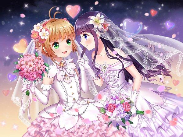 Tags: Anime, Pixiv Id 4331578, Cardcaptor Sakura, Cardcaptor Sakura: Clear Card-hen, Kinomoto Sakura, Daidouji Tomoyo, Fanart From Pixiv, Fanart, Pixiv, Wallpaper