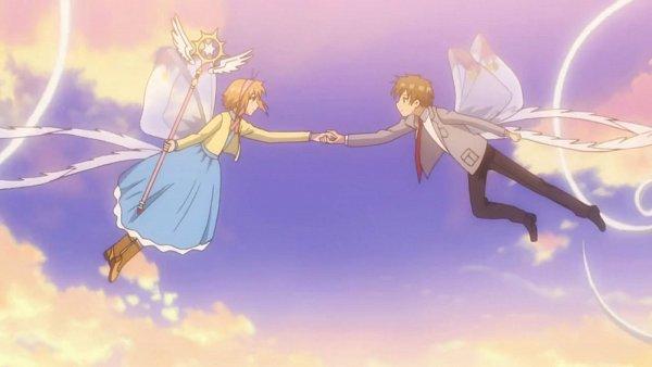 Tags: Anime, Cardcaptor Sakura: Clear Card-hen, Cardcaptor Sakura, Kinomoto Sakura, Li Syaoran, 1600x900 Wallpaper, Wallpaper