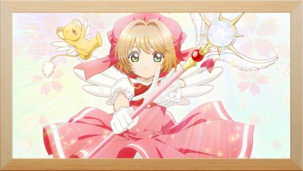 Tags: Anime, Cardcaptor Sakura: Clear Card-hen, Cardcaptor Sakura, Cardcaptor Sakura: Happiness Memories, Kinomoto Sakura, Kero-chan, Sealing Wand (Guardian Form), Bokeh, Screenshot, Wallpaper