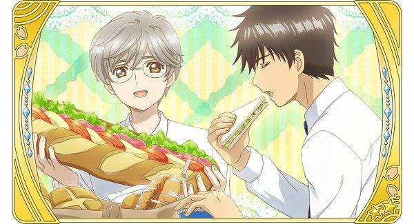 Tags: Anime, Monstar Lab, Cardcaptor Sakura, Cardcaptor Sakura: Happiness Memories, Tsukishiro Yukito, Kinomoto Touya, Sandwich, Official Card Illustration, Official Art