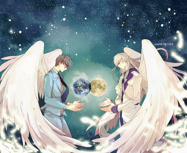 Tags: Anime, CAUSE('ω')ノシ, Cardcaptor Sakura, Tsukishiro Yukito, Yue (Cardcaptor Sakura), Giant, Fanart, Pixiv