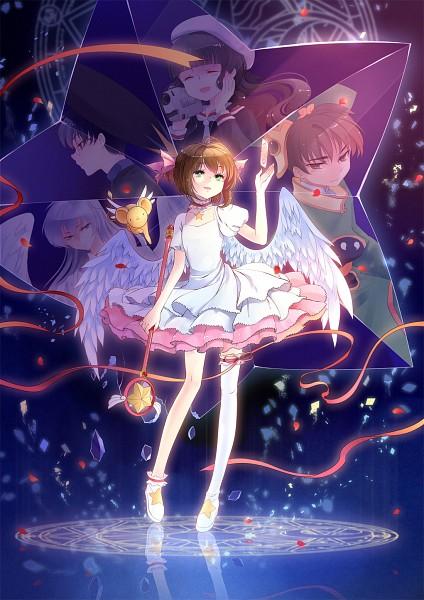 Tags: Anime, Kieta, Cardcaptor Sakura, Kero-chan, Clow Reed, Daidouji Tomoyo, Kinomoto Sakura, Hiiragizawa Eriol, Li Syaoran, Yue (Cardcaptor Sakura), Clow Cards, Sealing Wand (Star Form), Fanart