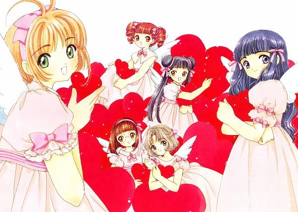 Tags: Anime, CLAMP, Cardcaptor Sakura, Cardcaptor Sakura Illustrations Collection 3, Daidouji Tomoyo, Kinomoto Sakura, Official Art, Scan