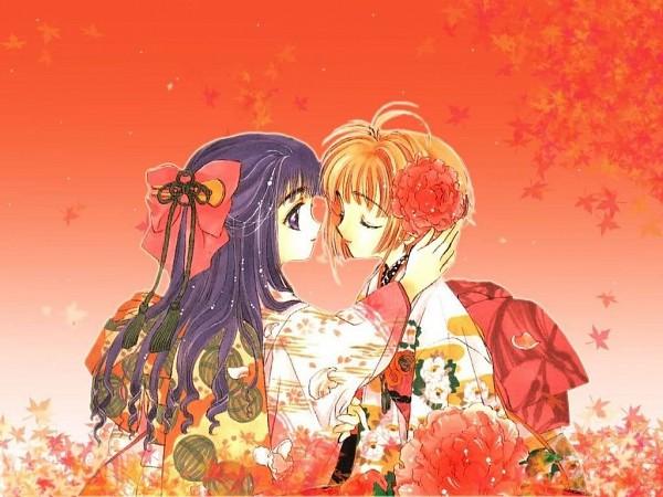 Tags: Anime, CLAMP, Cardcaptor Sakura, Daidouji Tomoyo, Kinomoto Sakura, Wallpaper
