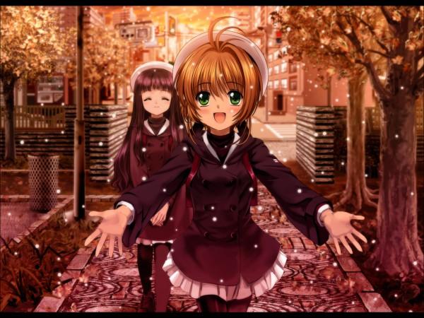 Tags: Anime, Moonknives, Cardcaptor Sakura, Daidouji Tomoyo, Kinomoto Sakura, Wallpaper, Fanart