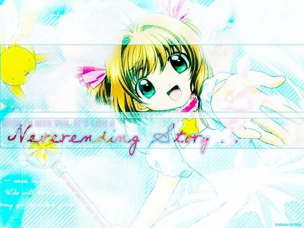 Tags: Anime, Cardcaptor Sakura, Kero-chan, Kinomoto Sakura, Kerberos, Sealing Wand (Star Form)