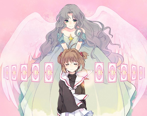 Tags: Anime, Pixiv Id 130718, Cardcaptor Sakura, Kinomoto Nadeshiko, Kinomoto Sakura, Clow Cards, Fanart From Pixiv, Fanart, Pixiv