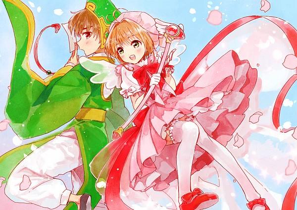 Tags: Anime, Momose (oqo), Cardcaptor Sakura, Kinomoto Sakura, Li Syaoran, Pixiv